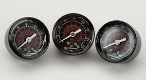 "PRESSURE GAUGES (3) 1.5"" DIAL, 0-160 PSI. 1/4 INCH NPTNORGREN #18-013-212,"