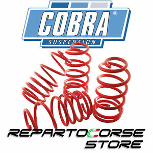 Set 4 Springs Ride Height Lowered cobra 30mm Lancia Y 840 1.1 - Homologated Tüv