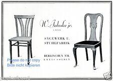 Stuhl Fabrik Sägewerk Jahnke Berlinchen Reklame von 1927 Werbung Soldin Möbel ad