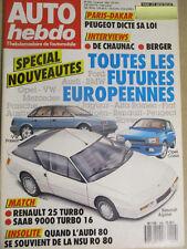 AUTO HEBDO: n°556: 14/01/1987: GERHARD BERGER - NSU RO 80 - R25 TURBO -SAAB 9000