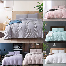 Duvet Quilt Cover Sets Washed Cotton Bedding Set Pillowcase Twin/Queen/King Size