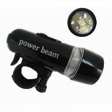 Schwarz Wasserdicht Camping Fahrrad Lampe Super hell LED-Licht Vorn Beleuchtung