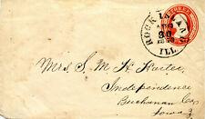 ILLINOIS 1870 Rock Island to Iowa