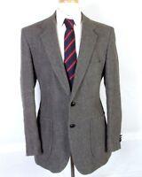 vtg Bergamo euc Gray Flecked Wool Linen Blend Tweed Blazer Sportcoat sz 42 R