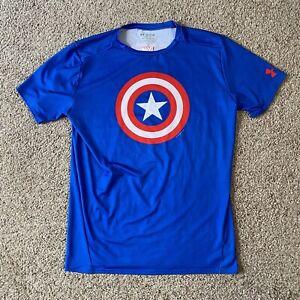 Under Armour Men's Captain America Compression Heat Gear Shirt Size 3XL Avengers