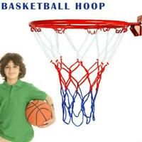 Basketball Goal Hoop Rim Net Wall Mounted Foldable For Indoor Outdoor gift T4S0