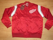 Mitchell & Ness Detroit Red Wings Satin Varsity Jacket size Men's Large