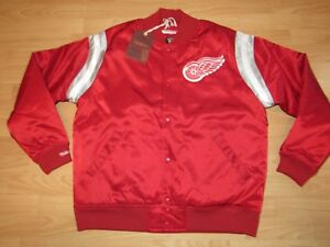Mitchell & Ness Detroit Red Wings Satin Varsity Jacket size Men's Large