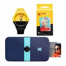 KODAK Smile Instant Print Digital Camera (Blue) Watch Bundle