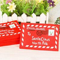 Sobre de Navidad Tarjetas de Invitación Cubierta Bolsa de dulces Adorno Hogar