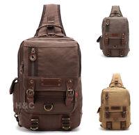Canvas Tactical Sling Assault Chest Pack Shoulder Backpack Bicycle Hiking Bag