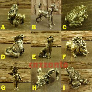 9 styles Solid Brass figurine Ornaments statue dog gorilla cobra boar frog angel