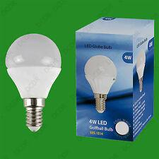 10x 4W (=40W) E14 6500K Daylight White G45 Round Golf Ball LED Light Bulb Lamp