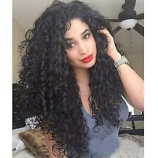 Women Long Afro Kinky Curly Full Wigs Black Synthetic Wig African Hairstyle Chic