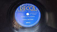 "PLEHAL BROTHERS Cherry Pickers Polka / Jenny Lind 10"" 78 Decca 3820 RARE!"