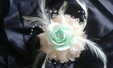 Prom WEDDING polso BUSTINO Menta Verde Avorio o Bianco ** TUTTI I COLORI ****