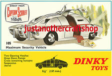 Dinky Toys 105 MSV Captain Scarlet Gerry Anderson Large Size Poster Sign Leaflet