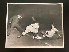 Vintage 1957 Buffalo Bisons Offermann Stadium Black & White Baseball Press Photo