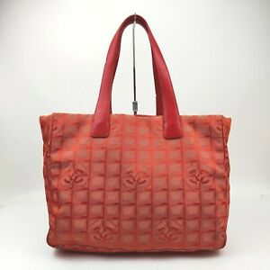 Chanel Tote Bag  Reds Nylon 1604218