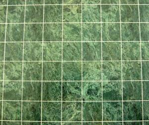 Dolls House Miniature Flooring Green Marble Tile Sheet