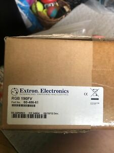 New Extron RGB 190FV Universal Computer-Video Interface With Power Supply