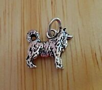 Alaskan Malamute Angel Charm Slide Jewelry Sterling Silver Handmade Dog Charm Sl
