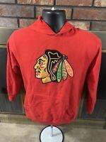 Chicago Blackhawks NHL Hockey Hooded Sweatshirt Youth Size Medium Reebok Red