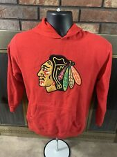 Chicago Blackhawks NHL Hockey Hooded Sweatshirt Youth Size Medium Reebok Red