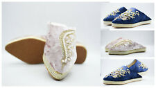 Woman suede Morocco slippers Velvet luxurious Babouche Traditional wedding shoes