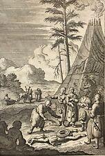 Chamane avec le Tambour magique Bernard Picart gravé en 1726 Lapon Laponie
