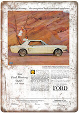 "1964 Ford Mustang 10"" x 7"" Reproduction Metal Sign"