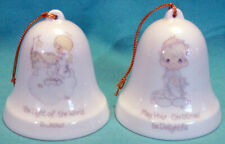 1985 Precious Moments Bells Light Of World Is Jesus May Christmas Be Delightful