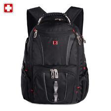 """Swiss 17"""" waterproof Laptop Backpack Travel School shoulder Bags SW8114 Black"""