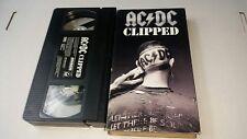 AC/DC Clipped Rare VHS A Vision Entertainment 1990 Contains Six Videos