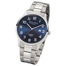 Regent Herren-Armbanduhr 32-1153400 Quarz-Uhr Edelstahl-Armband silber UR1153400