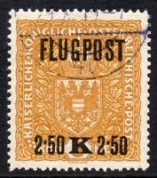 Austria 2.50 Kronen on 3 Kronen Air Mail Stamp c1918 Fine Used (2351)