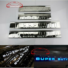 LED light 4 Door Sill scuff plate Guard For Ford Super duty F250 F350 F450 09-16