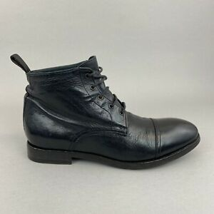 Paul Smith Men Only Black Leather Ankle Lace Combat Boots 38.5 UK5 - 5.5 Ladies