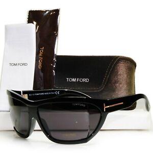 Authentic TOM FORD Mens Sunglasses Unisex Glossy Black Sedgewick TF402 01A 30676