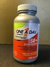 New One a Day Women's 50+ Healthy Advantage~ 100 Tablets! SEALED exp 6/19 B3