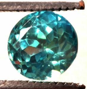 8.30 Cts. Natural Blue Indicolite Tourmaline Round Shape Certified Gemstone