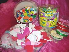 """""""CRAFTERS DELIGHT, Lot of 4, FOAM NURSERY RHYMES, HEARTS, WIGGLY EYES & RIBBON"""""""