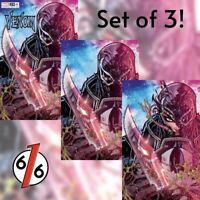 🚨🕸🔥 VENOM #29 JONBOY MEYERS UNMASKED SET OF 3 Exclusive Variants NM