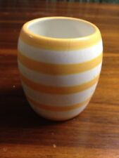 Department 56 Yellow & White Stripe Candle Holder Free Shipping Used Read Descri