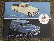 1955 HOLDEN FJ PANEL VAN AND UTE BROCHURE.  100% GUARANTEE.