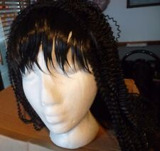 NEW BLACK CRIMPED  WIG GREAT COSTUME OR COSPLAY