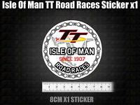 ISLE OF MAN TT Decal Sticker MANX Moto GP Racing laptop bike car 11cm GOLD