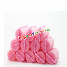 12Pcs Foam Sponge Cushion Hair Curler Roller Magic Beauty Salon Dressing Styling