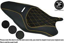 YELLOW STITCH CARBON GRIP VINYL CUSTOM FOR DUCATI MONSTER 1200R 16-19 SEAT COVER