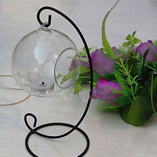 Glass Ball Basket Light Lantern Stand Holder Hanging Art Decor Candlestick Chic